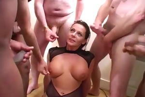 bukkake party for english brunette hair d like to