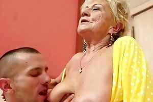 breasty granny acquires her shaggy cookie drilled