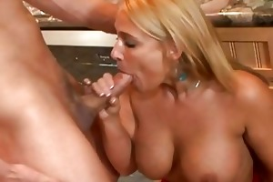cheating wife bows over and receives hard doggy