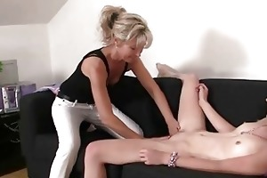 girlfriend gets enticed by older lesbo who craves