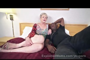 aged lady in creampie interracial movie scene