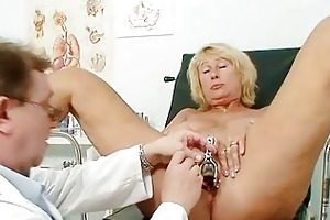 sexy breasty granny mounds and pussy gyno checkup