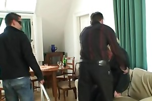 old slut is picked up and double fucked