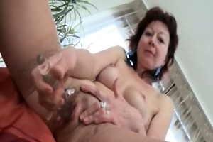 hot older whore receives excited rubbing