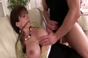 large melons older chick sucks on ramrod