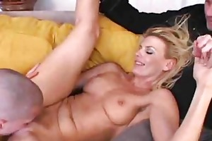 sexy milf team-fucked whilst hubby watches