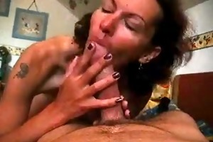german wife engulfing and swallowing cock juice