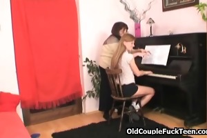 music lesson turns into a 3some