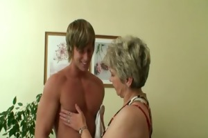 lonely granny receives drilled by a totally