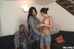 her bfs parents seduces her into trio