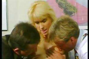 blond d like to fuck receives drilled by two