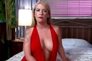 gorgeous blond older with nice firm tits