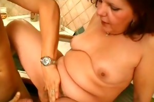 all natural hairy cum-hole and large milk cans -